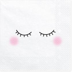 20 serviettes - visage  -...