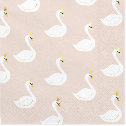 20 serviettes - lovely swan...