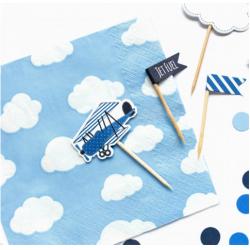 20 napkins - small plane -...