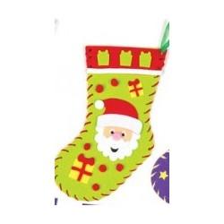 Kit de couture chaussette de Noël père-noël 22cm
