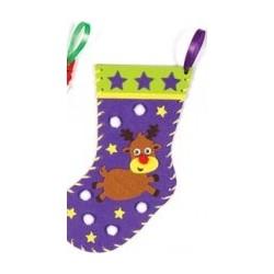 Kit de couture chaussette de Noël renne 22cm