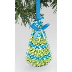 Christmas decoration kit blue with sequins 10cm x 5cm