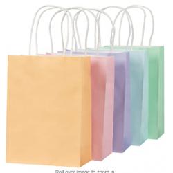 sacs en papier pastel avec...