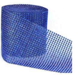 ruban avec strass - bleu -...