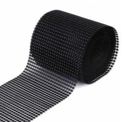 ruban avec strass - noir -...