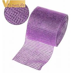 ruban avec strass - violet...