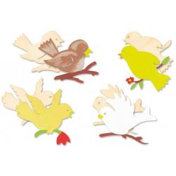 oiseaux en bois naturel...