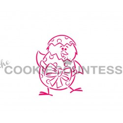 stencil Chick & Egg / Poussin & Oeuf - Cookie Countess