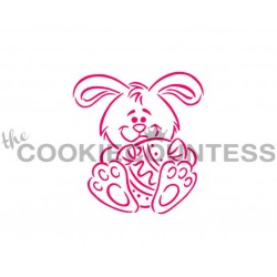 stencil Bunny & Egg / Lapin & Oeuf - Cookie Countess