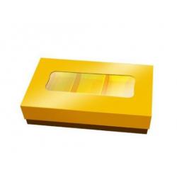 boîte de chocolats dorée -...