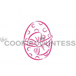 stencil Easter Egg / Oeuf de Pâques - Cookie Countess