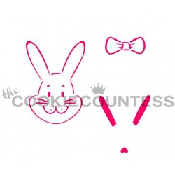 stencil Build a bunny 1 / Crée ton lapin 1 - Cookie Countess