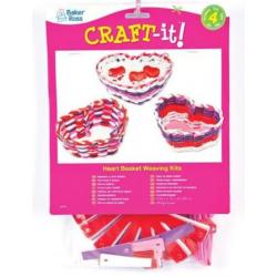 4 kits panier à tisser - coeur