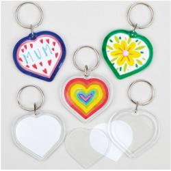 6 porte-clés - cœur