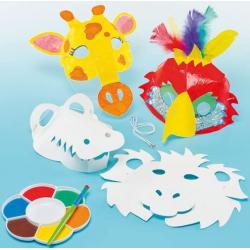 6 masques d'animaux en 3D...