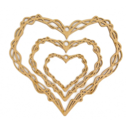 wood support MDF - Heart...