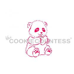 stencil panda with heart  /...