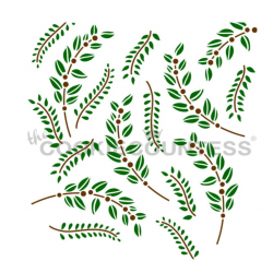 stencil greenery / verdure...