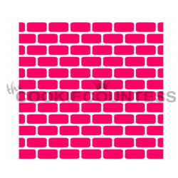 stencil brick wall / mur de...
