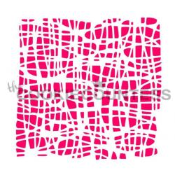 stencil burlap texture /...