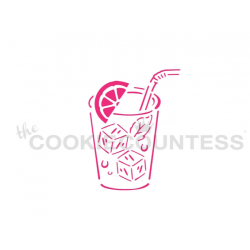 stencil PYO lemonade glass...