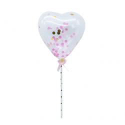mini ballon confetti - pink...