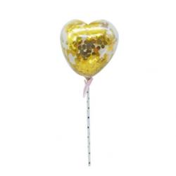 mini ballon confetti - gold...
