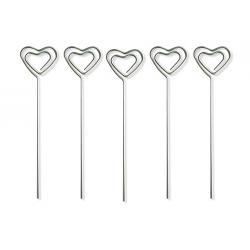 clip pense-bête en métal coeur