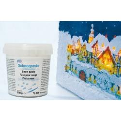 3D snow effect relief paste...