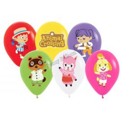 6 ballons mix - animal...