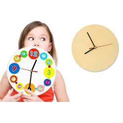 Horloge ronde en bois Ø :...