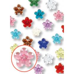 mini strass fleur adhésif -...