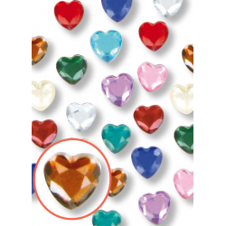 mini strass coeur adhésif -...