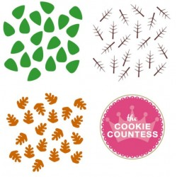 stencil 3 Piece Leaves set / Set de 3 feuilles - Cookie Countess