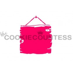stencil Wood Sign / Panneau de bois - Cookie Countess