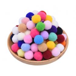 Pompon couleur mix /...