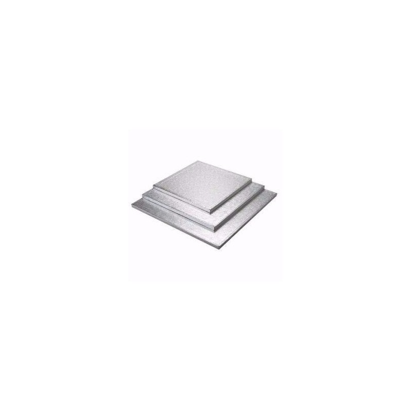 silver  14 x 14 inch thickness 1.2 cm