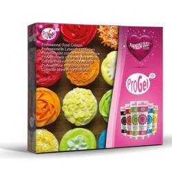 Kit ProGel 6 colorants gels alimentaires concentrés - 6x25g