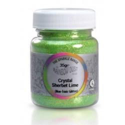 The sparkle range - Crystal- sherbet lime - citron vert - 35g