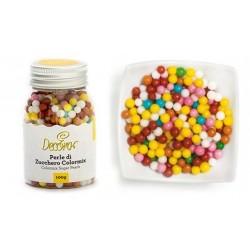 Colormix sugar pearls - 4mm - 100g - Decora