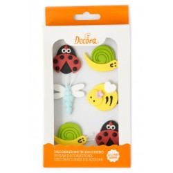 Décoration en sucre insectes - 6p - Decora