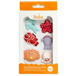 Sea animals Sugar Decoration - 6p - Decora