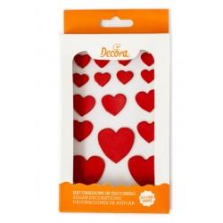 Hearts Sugar Decoration - 6p - Decora