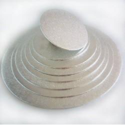 argenté diamètre 10 cm épaisseur 4 mm
