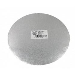argenté diamètre 22 cm épaisseur 3 mm