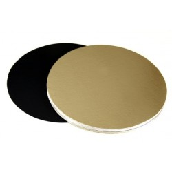 """double-sided gold and black - Ø 22 cm / 8.5"""" x 1 mm"""