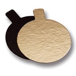 double face or et noir avec languette - Ø 7 cm x 1 mm