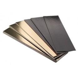 semelle à bûche bord droit or/noir 20 x 10 cm x 1mm