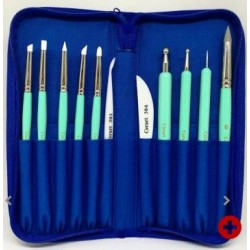 trousse bleue & outils de modelage Tiffany