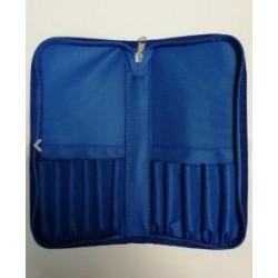 trousse bleue pour accessoires 12 x 24 cm